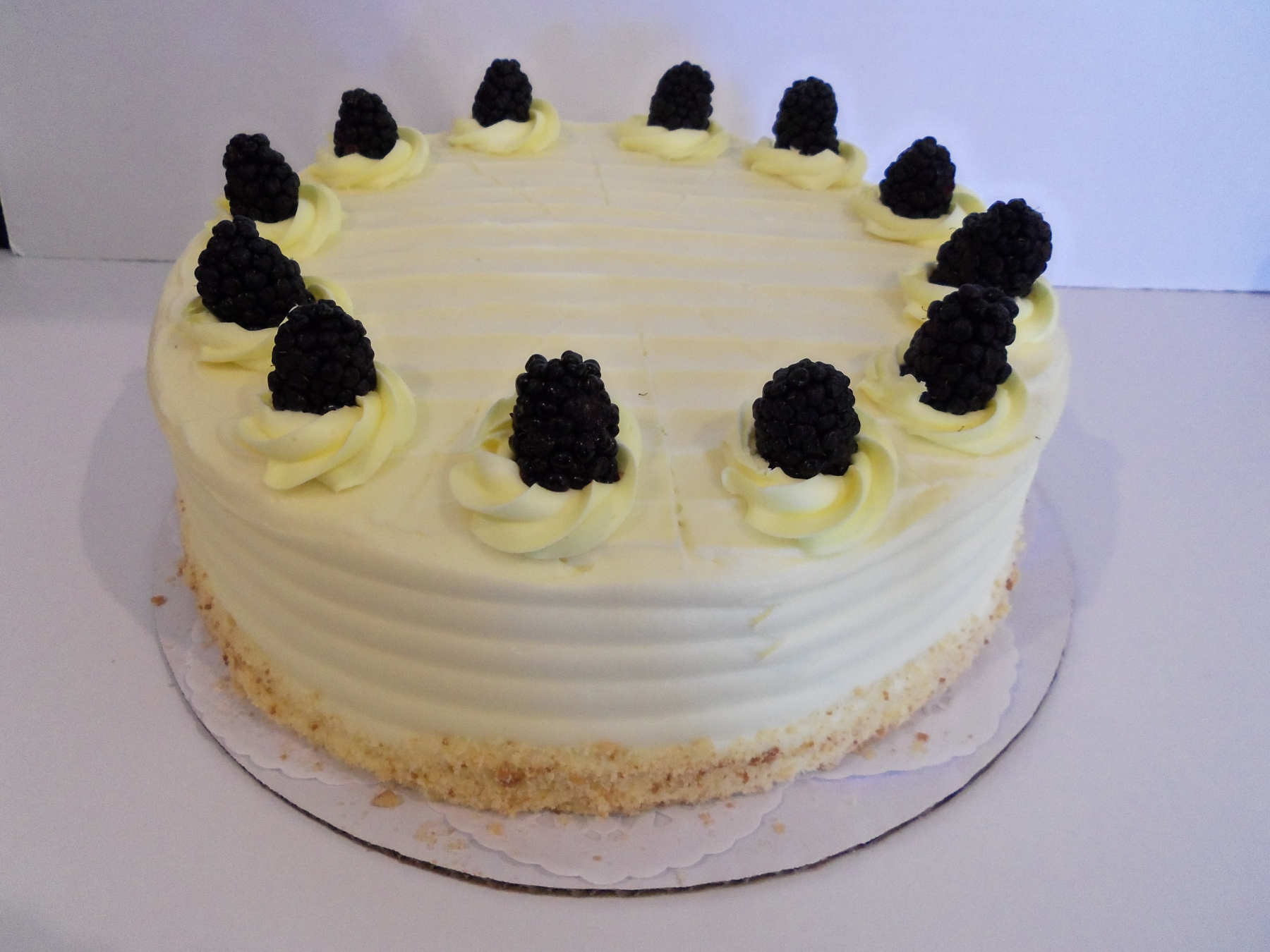 Blackberry citrus cake