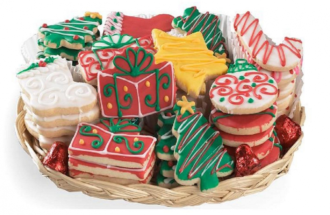 Holiday Cutout Cookie Tray