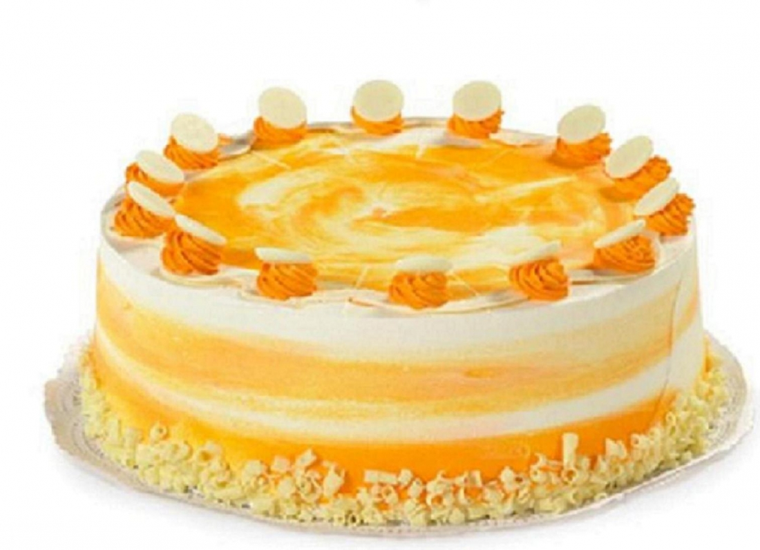 White Chocolate Mango Cake