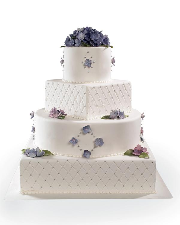 Quilted Cake Design : Quilted Hydrangea Design Cake - Product Details