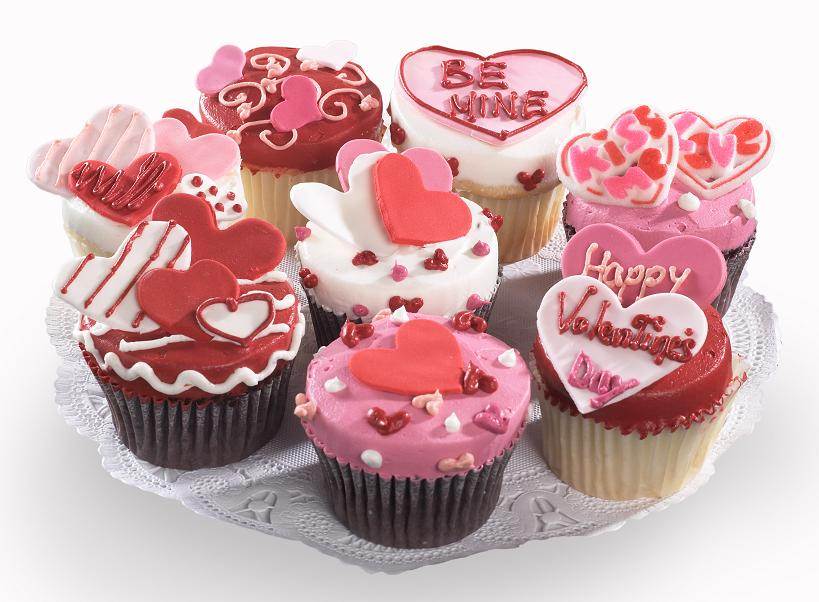 Valentine Decorated Cupcakes