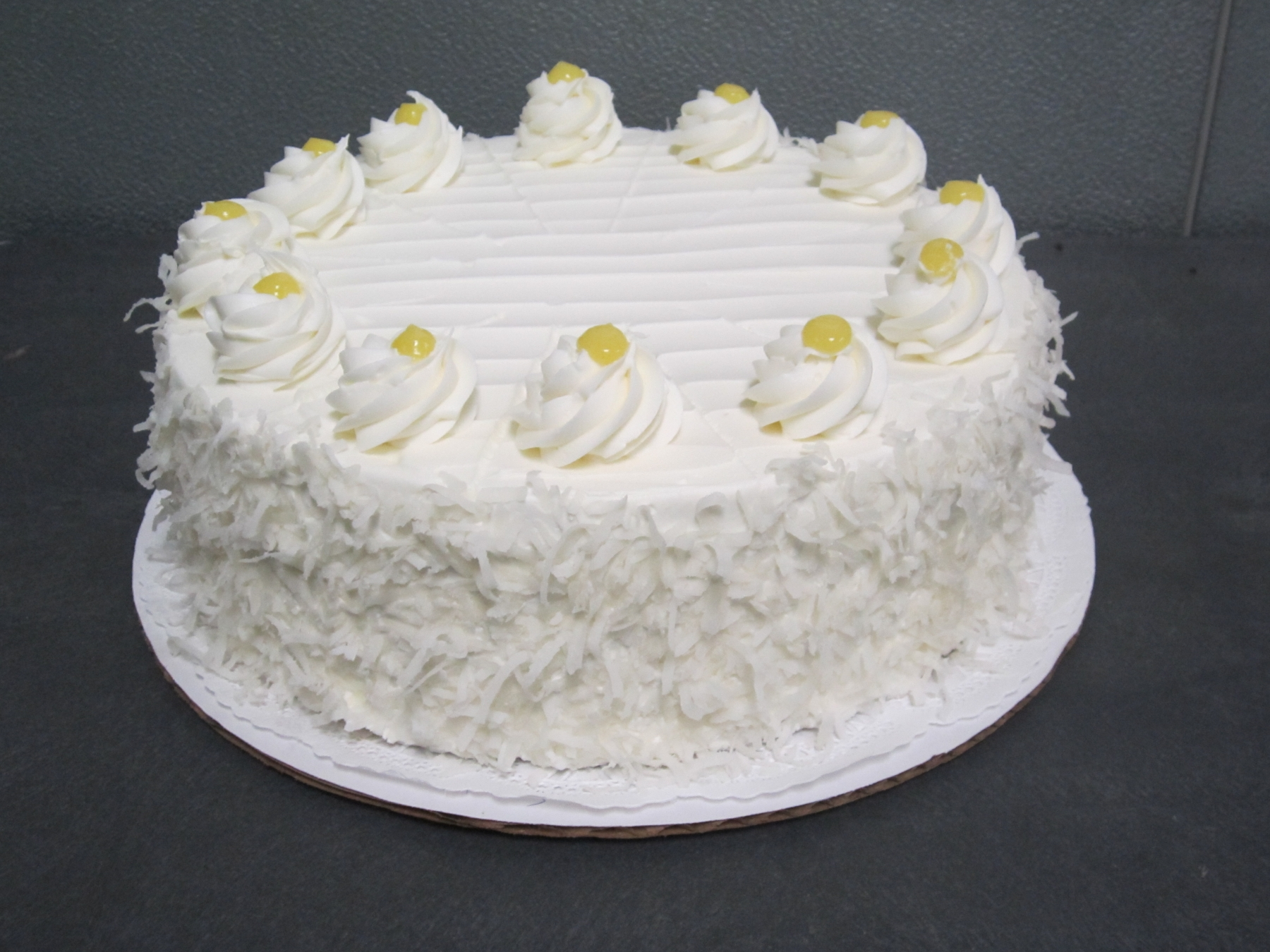 Lemon Coconut Buttercream Cake